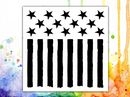 Visible Image Stencil Stars & Stripes